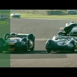 Damaged Lotus hunts down V8 Lister Knobbly for amazing final lap battle at Goodwood