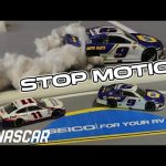Kevin Harvick gets punted, Chase Elliott gets the win at Daytona's Road Course | Stop Motion NASCAR