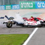 SAVING GRACE George Russell 'thankful' after F1 star saved by car halo in horror crash with Antonio Giovinazzi at Belgian GP