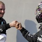 Valtteri Bottas claims pole at the Emilia Romagna Grand Prix with Mercedes team-mate Lewis Hamilton behind him - by 0.097 seconds - and Max Verstappen in third after thrilling shootout at Imola