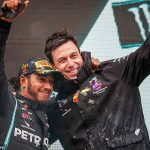 Lewis Hamilton will open new contract talks with Mercedes over a £120m deal 'in a few days', says team boss Toto Wolff... while the world champion enjoys downtime on the beach