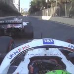 'What the f*** was that? Does he want to kill us?' Mick Schumacher fumes at his OWN team-mate Nikita Mazepin... after the two rookie Haas drivers have very close call on final 200mph straight during Azerbaijan Grand Prix