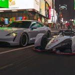 Porsche 99X Electric and Porsche Taycan 4S electrify New York City ahead of Formula E's trip to The Big Apple