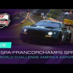 LIVE – Round 3 @ Spa-Francorchamps – GT World Challenge America Esports Championship 2021