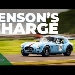 Jenson Button carves through field in mighty Cobra | Goodwood Revival 2021